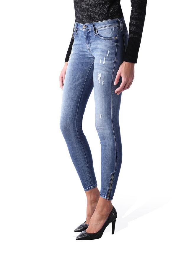 Diesel - Skinzee Low Zip 0847U, Bleu moyen - Jeans - Image 3
