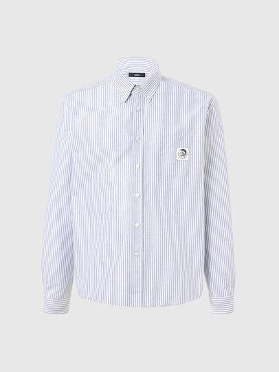 Diesel - S-JAMES-A, Bleu/Blanc - Chemises - Image 1