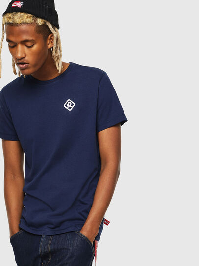 Diesel - CC-T-DIEGO-COLA, Bleu Foncé - T-Shirts - Image 1