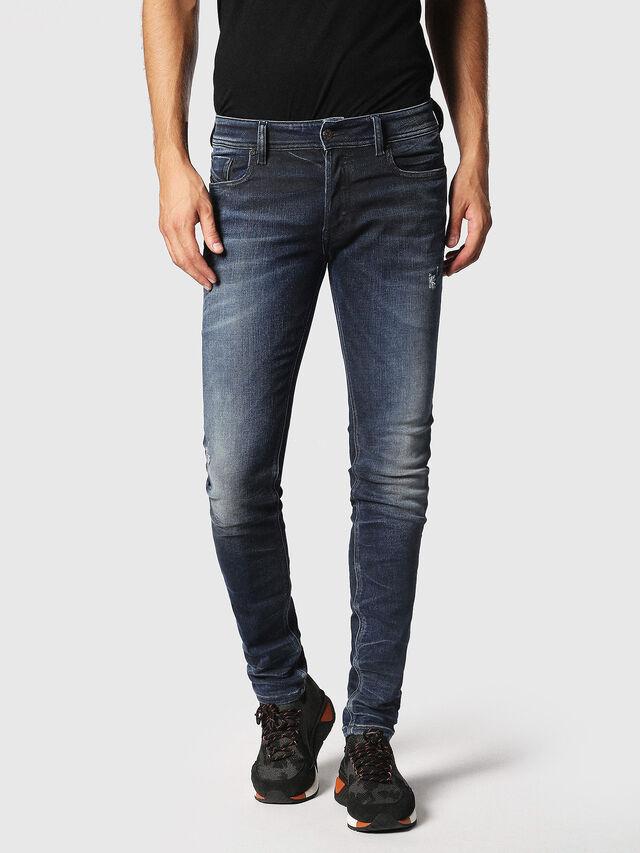 Diesel - Sleenker 084JM, Bleu Foncé - Jeans - Image 1
