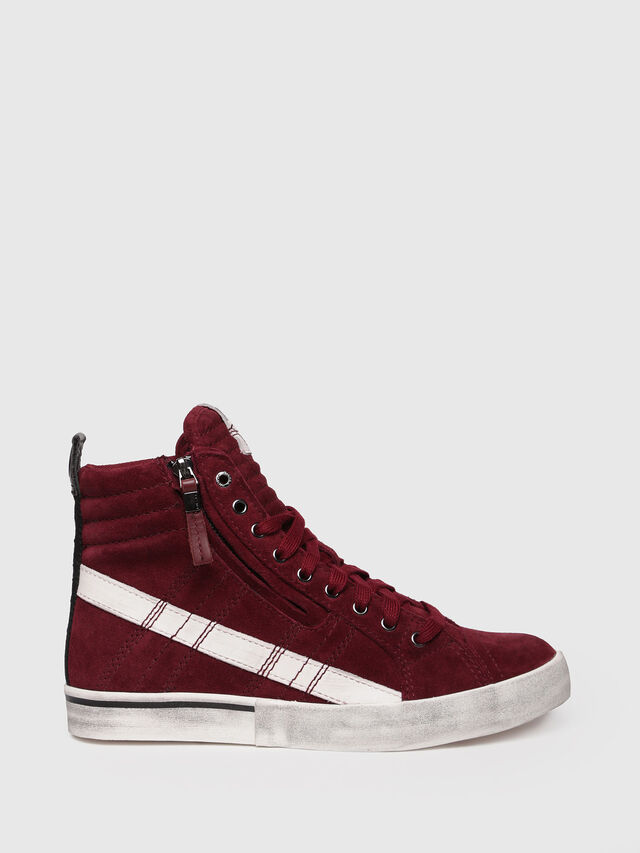 Diesel - D-VELOWS MID LACE, Rouge - Baskets - Image 1