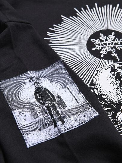 Diesel - TLUCASLSYA OVER, Noir - T-shirts et Hauts - Image 3