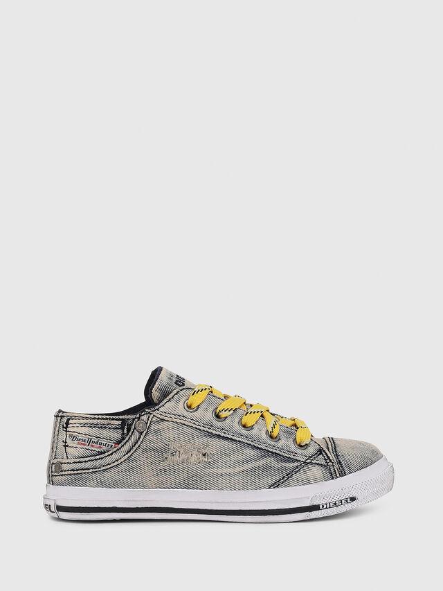Diesel - SN LOW LACE DENIM 13, Jean Gris - Footwear - Image 1