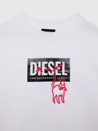 Diesel - SMUGD OVER, Blanc - Pull Cotton - Image 3