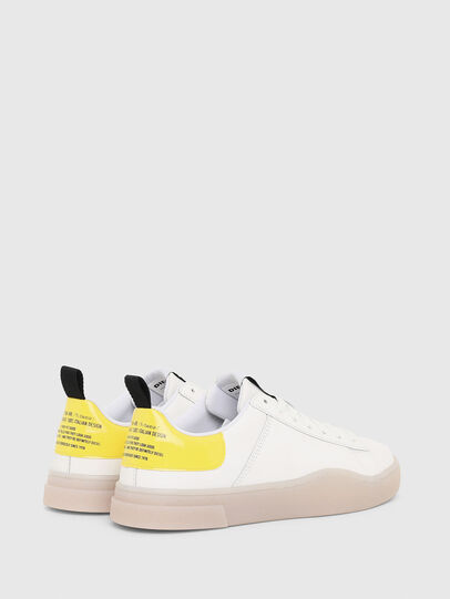 Diesel - S-CLEVER LOW LACE W, Blanc/Jaune - Baskets - Image 3