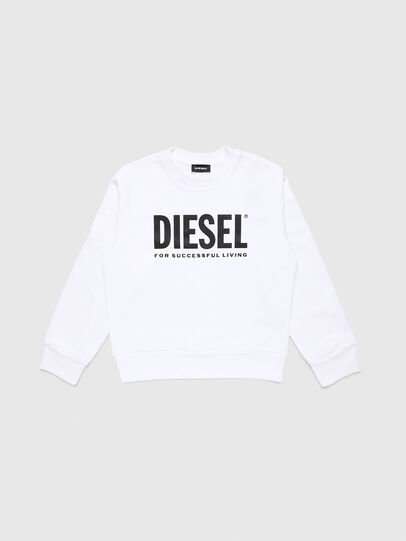 Diesel - SCREWDIVISION-LOGO O, Blanc - Pull Cotton - Image 1