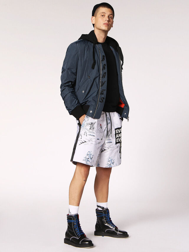 Diesel P-GROUND, Blanc - Shorts - Image 6