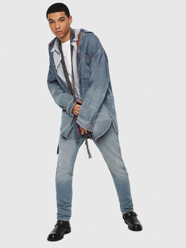 Diesel - Krooley JoggJeans 086AY, Bleu Clair - Jeans - Image 5