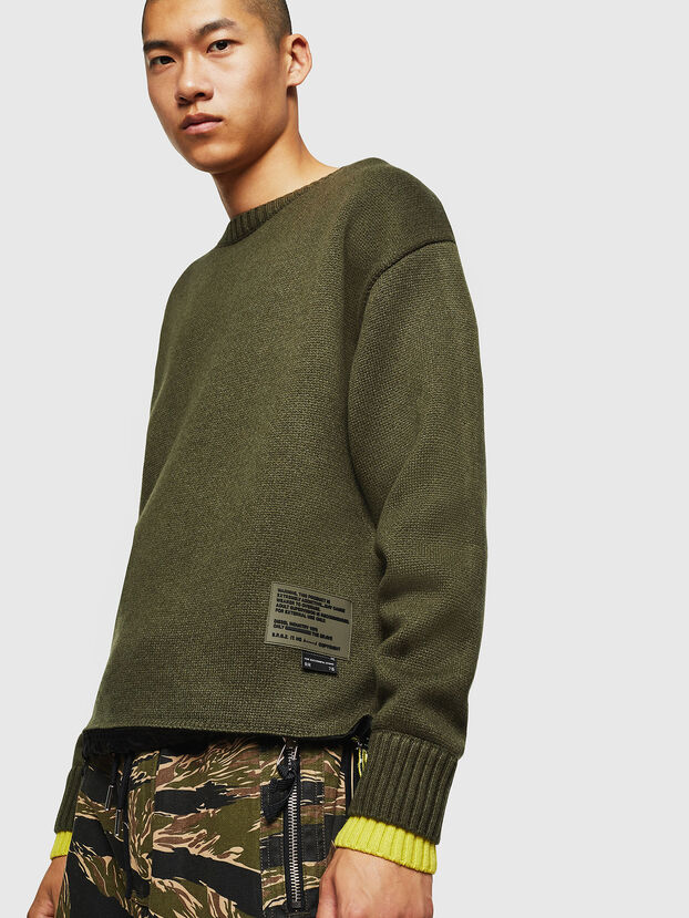 K-PILOT, Vert Militaire - Pull Maille