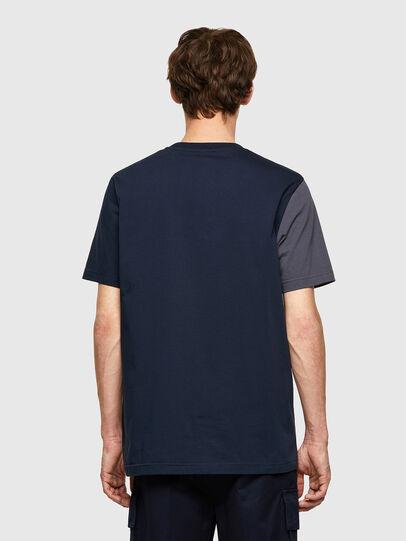Diesel - T-RISEN-B1, Bleu Foncé - T-Shirts - Image 2