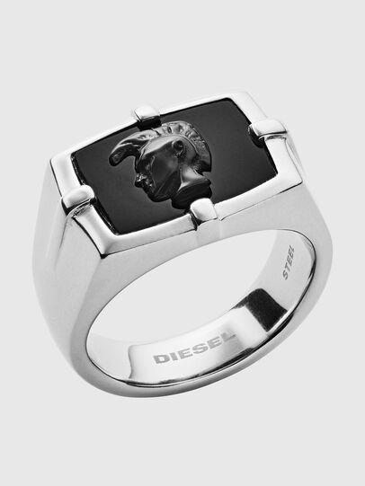 Diesel - DX1175, Gris argenté/Noir - Bagues - Image 1