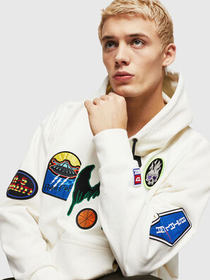 S-ALBY-PATCHES, Blanc - Pull Cotton