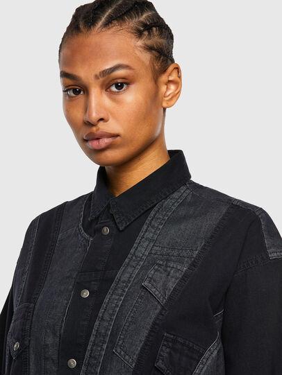 Diesel - DE-RINGLE, Noir - Chemises en Denim - Image 5