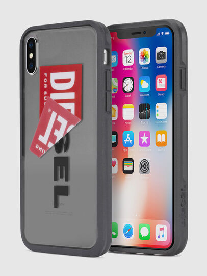 Diesel - STICKER IPHONE X CASE, Noir - Coques - Image 1
