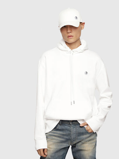 Diesel - S-AFTER, Blanc - Pull Cotton - Image 1