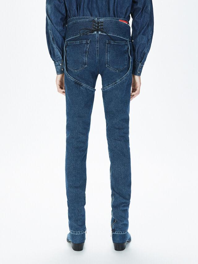 Diesel - SOCSJ01, Bleu Foncé - Pantalons - Image 4