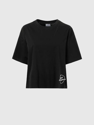 T-shirt avec ourlet brodé