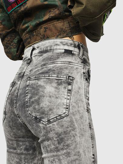 Diesel - Slandy High 069GQ, Gris Clair - Jeans - Image 3