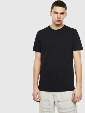 T-RABEN-POCKET, Noir - T-Shirts
