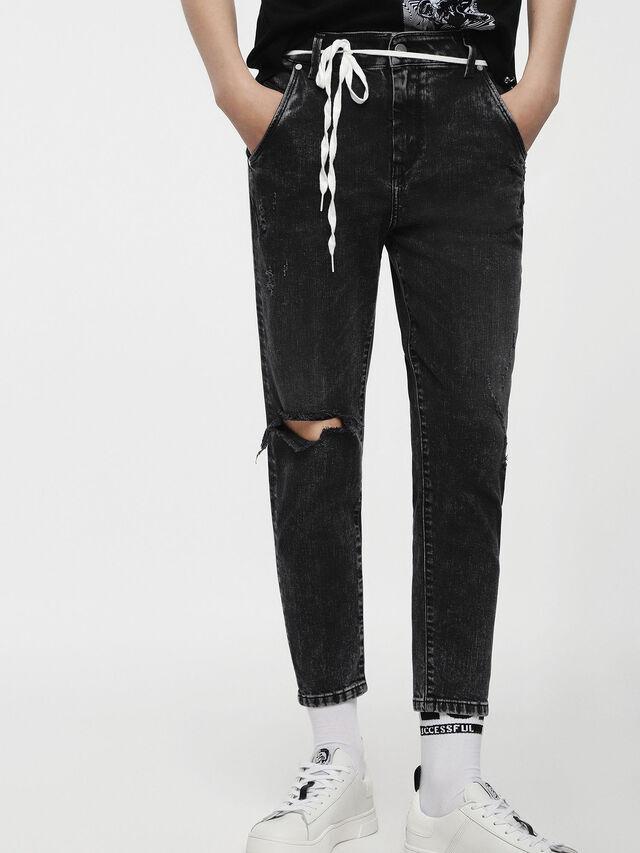 Diesel - Fayza-Evo 069AB, Noir/Gris foncé - Jeans - Image 1