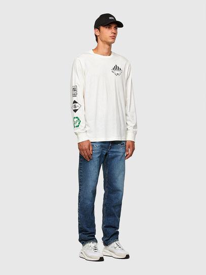 Diesel - T-JUST-LS-N60, Blanc - T-Shirts - Image 5