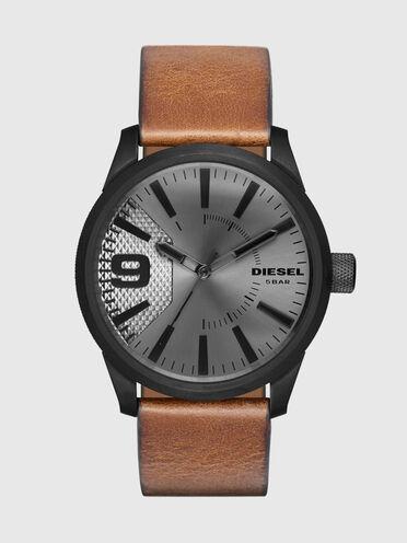 Rasp montre avec bracelet en cuir brun