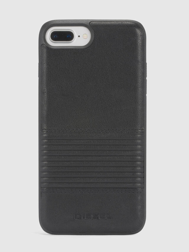 Diesel - BLACK LINED LEATHER IPHONE 8/7/6s/6 CASE, Noir - Coques - Image 2