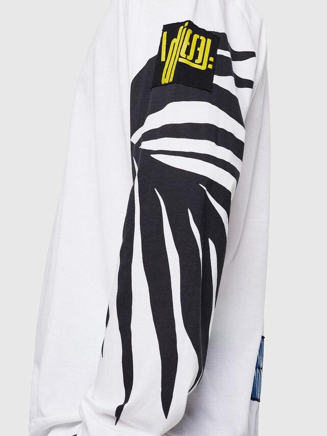 Diesel - T-JUST-LS-RIB, Blanc - T-Shirts - Image 3