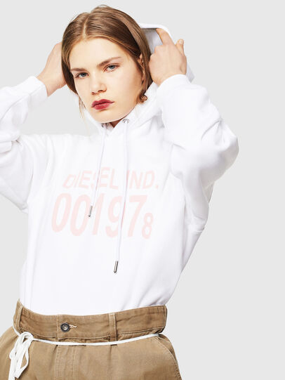 Diesel - F-ANG-HOOD-J1, Blanc - Pull Cotton - Image 4