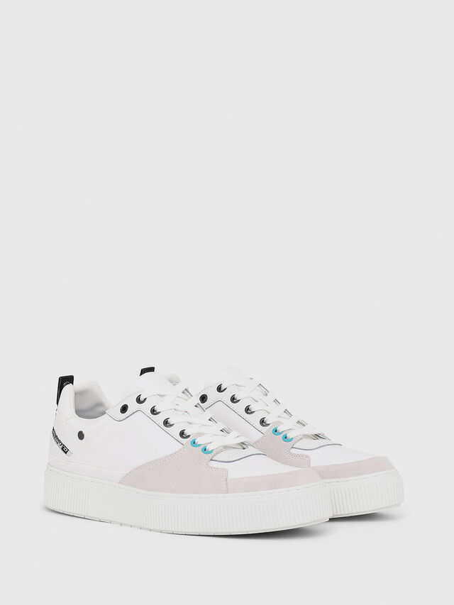 Diesel - S-DANNY LC, Blanc - Baskets - Image 2