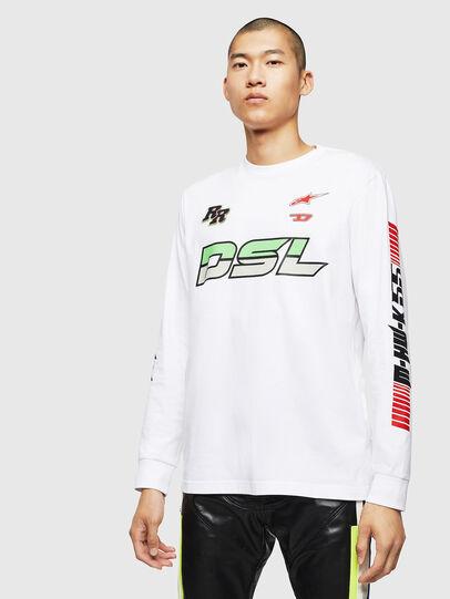 Diesel - ASTARS-T-JUST-LONG, Blanc - T-Shirts - Image 1