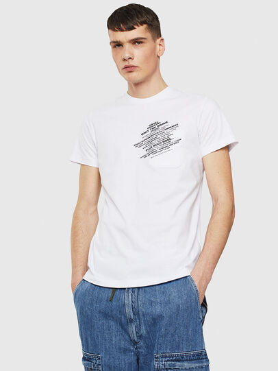 Diesel - T-WORKY-S1, Blanc - T-Shirts - Image 1