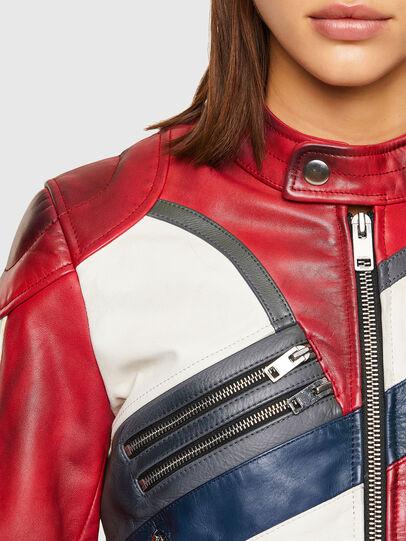 Diesel - L-POLLY, Rouge - Vestes de cuir - Image 4