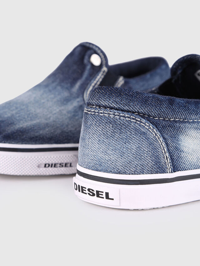 Diesel - SLIP ON 21 DENIM YO, Jean Bleu - Footwear - Image 5