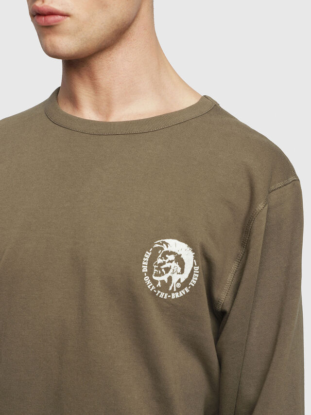 Diesel - UMLT-WILLY, Vert Militaire - Pull Cotton - Image 3