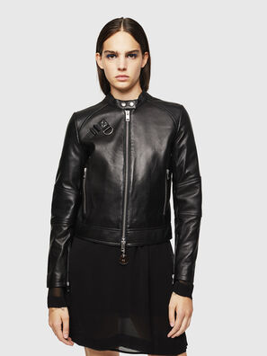 L-SUZA, Noir - Vestes de cuir
