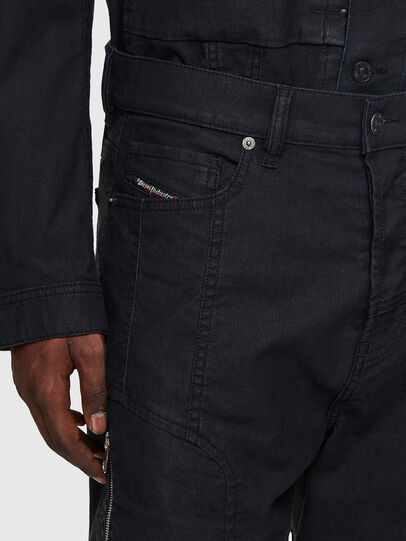 Diesel - D-VIDER JoggJeans® 0DDAX, Noir/Gris foncé - Jeans - Image 4
