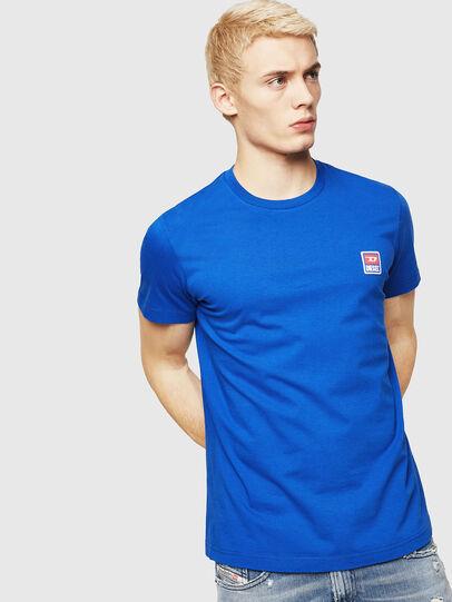 Diesel - T-DIEGO-DIV, Bleu Brillant - T-Shirts - Image 1