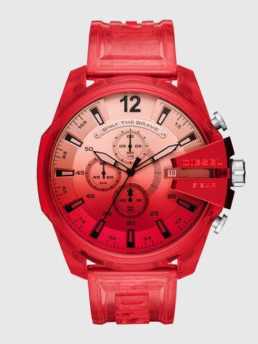 Montre MegaChief chronographe en polyuréthane rouge