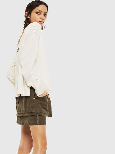 Diesel - M-PERLA-A, Blanc - Pull Maille - Image 4
