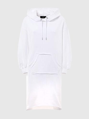 Robe longue à capuche avec poche découpée