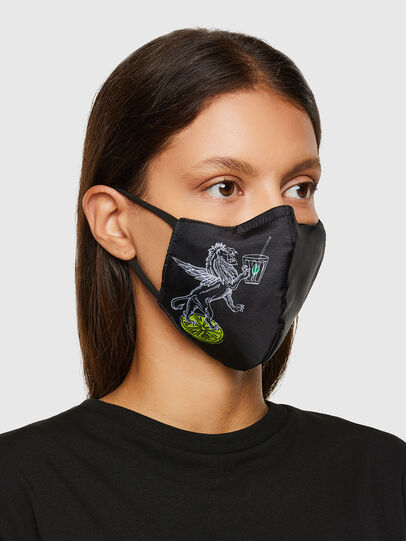 Diesel - VE-FACEMASK-LEO, Noir - Other Accessories - Image 2