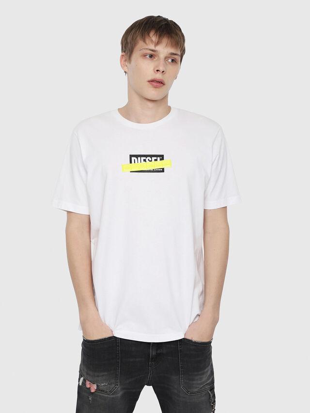 Diesel - T-JUST-DIE, Blanc - T-Shirts - Image 1