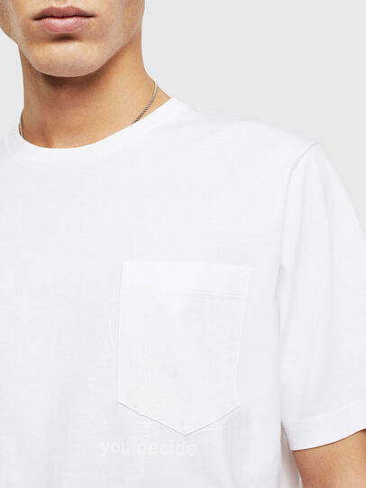 Diesel - T-JUST-POCKET-T17, Blanc - T-Shirts - Image 3