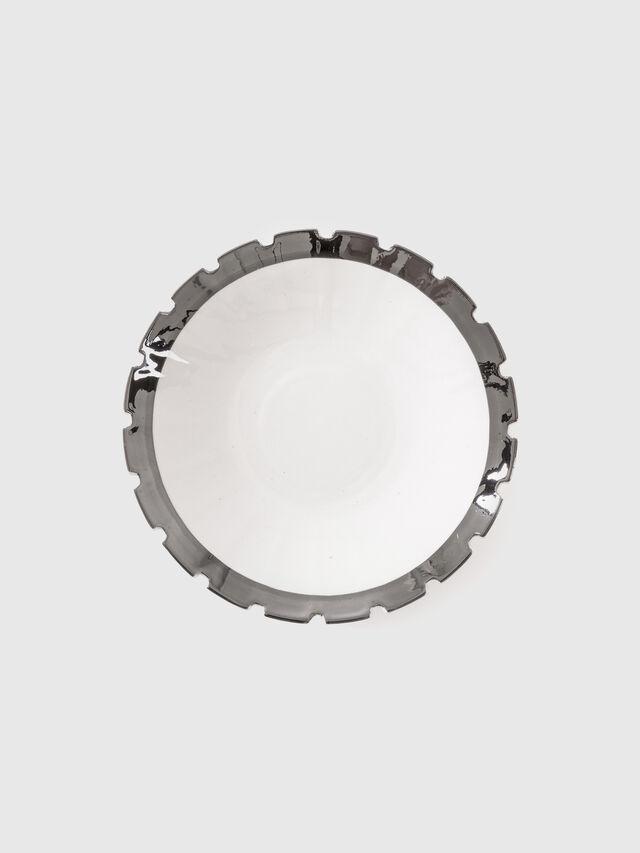 Diesel - 10990SIL MACHINE, Blanc - Assiettes - Image 1