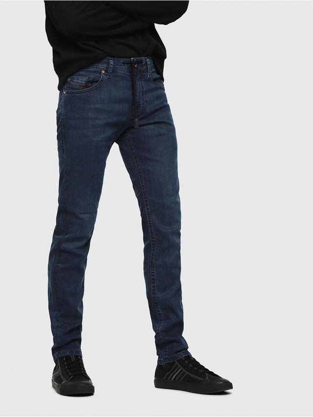 Diesel - Thommer JoggJeans 0688J, Bleu moyen - Jeans - Image 1
