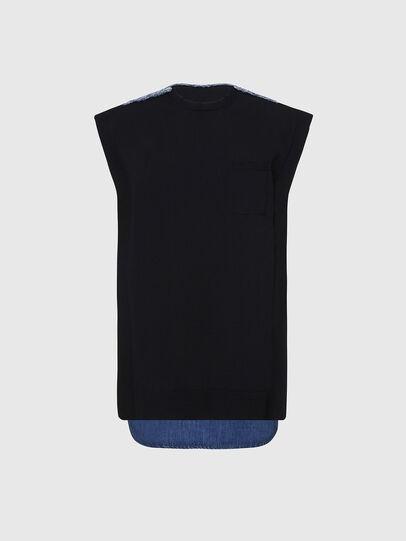 Diesel - M-BYRNE, Noir/Bleu - Robes - Image 1