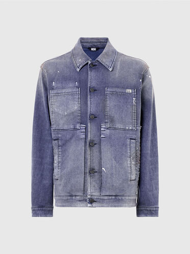 Veste workwear en denim velours surteint