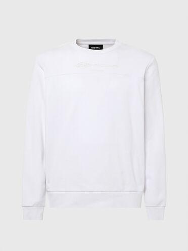 Sweat-shirt en coton avec empiècement avant