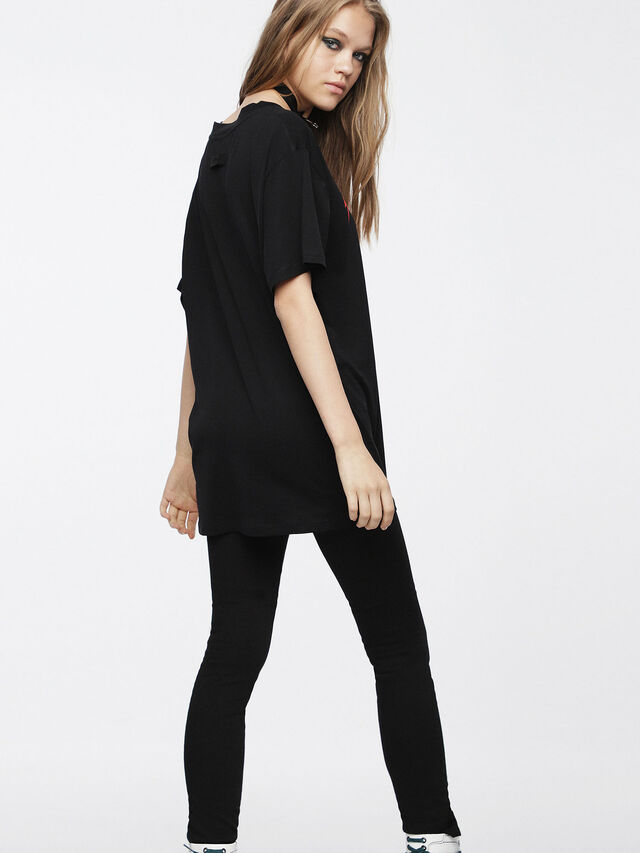 Diesel - T-OVERY-A, Noir - T-Shirts - Image 2